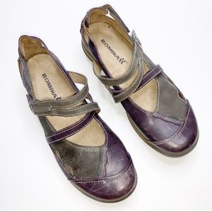 Romika Purple Gray Gina-04 Strap Shoes Size 9